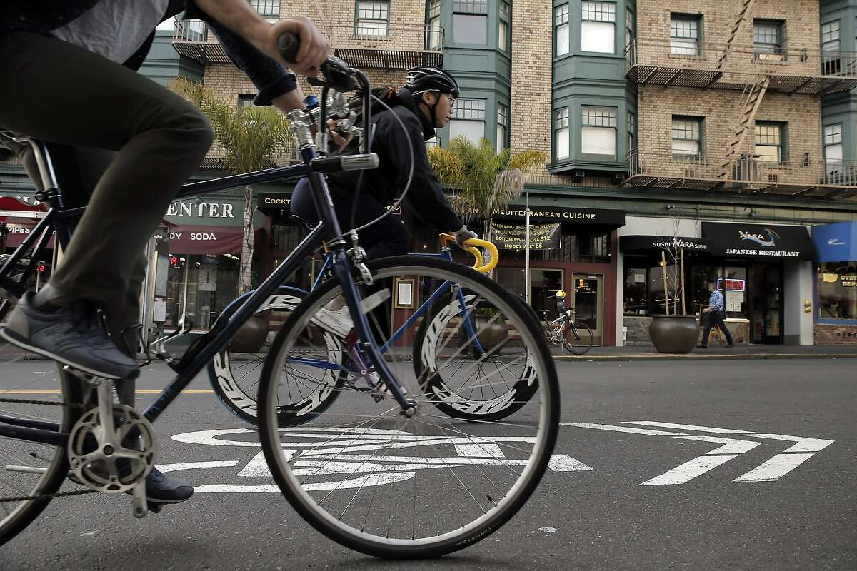 20. Polk Street and California Street Crashes: 7 Injuries: 7 Complaint of pain: 3 Visible injuries: 5 Severe injuries: 0 Fatalities: 0 Bicycle Danger Index score: 39.5
