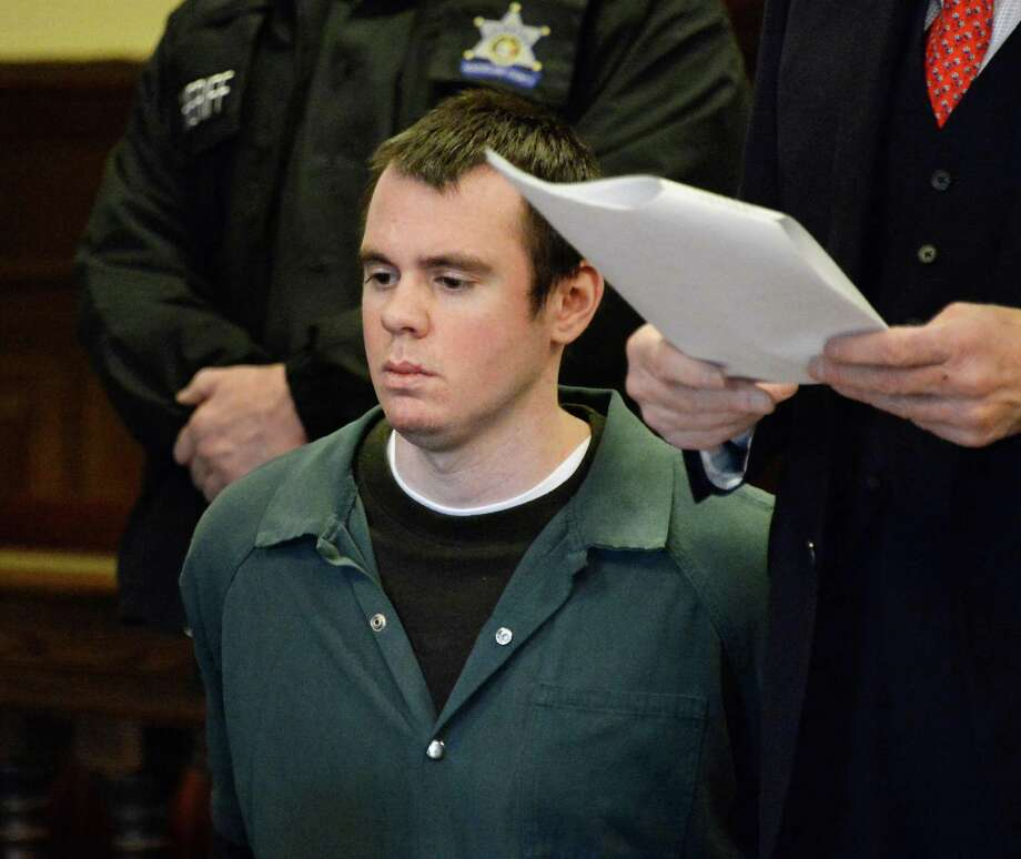 Anthony Repp listens as victim impact statements are read during his sentencing for the beating death of his mother and stepfather. He was sentenced Thursday Jan. 29, 2015, in Troy, NY.  .(John Carl D'Annibale / Times Union) Photo: John Carl D'Annibale / 00030382A