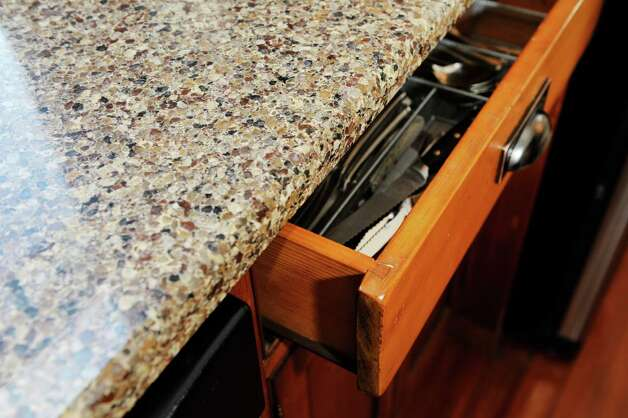 The DeBonises updated the kitchen at 31 Locust Ave., Troy, and replicated original features where possible to add storage space. This original drawer shows the tongue-and-groove joint.  (Paul Buckowski / Times Union) Photo: Paul Buckowski / 00030229A