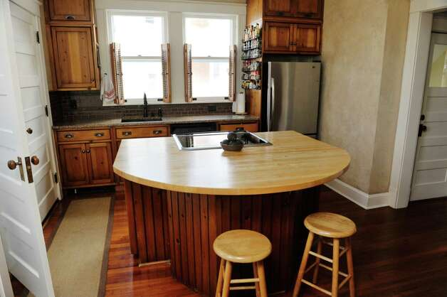 A view of the kitchen inside the home located at 31 Locust Ave., on Tuesday, Jan. 20, 2015, in Troy, N.Y.   (Paul Buckowski / Times Union) Photo: Paul Buckowski / 00030229A