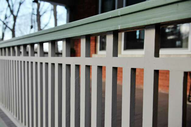 A view of porch railing at the home located at 31 Locust Ave., on Tuesday, Jan. 20, 2015, in Troy, N.Y.   (Paul Buckowski / Times Union) Photo: Paul Buckowski / 00030229A