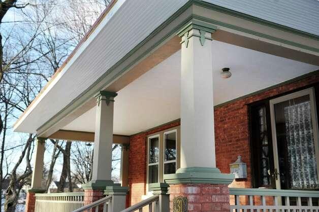 A deep front porch is intregral to Craftsman style.  (Paul Buckowski / Times Union) Photo: Paul Buckowski / 00030229A