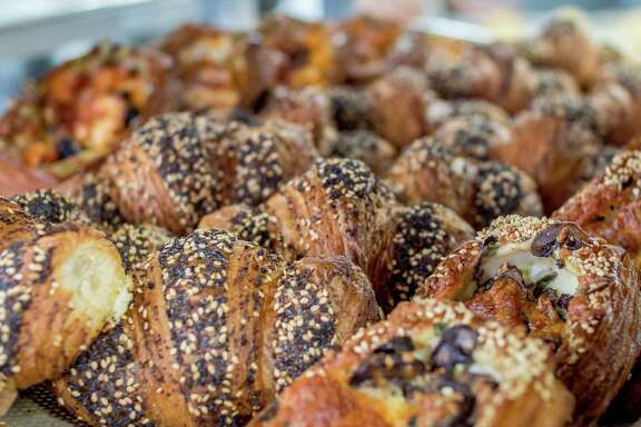 The everything croissants at Greg Mindel's Neighbor Bakehouse in the Dogpatch neighborhood of San Francisco.