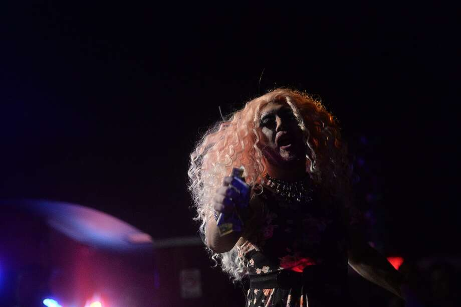 Ravenikka Knix of Nederland was among the area drag queens performing Friday night at Fame, Beaumont's newest gay club, which opened in the location formerly occupied by the Orleans Street Pub & Patio.  Photo taken Friday, January 9, 2015 Kim Brent/The Enterprise Photo: Kim Brent/The Enterprise
