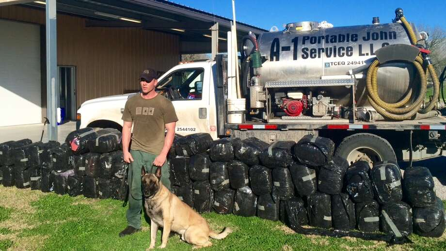 A man was arrested Wednesday afternoon in Fayette County after police found just under 1,500 pounds of marijuana hidden in his toilet vacuum service truck tank. Photo: Fayette County Sheriff