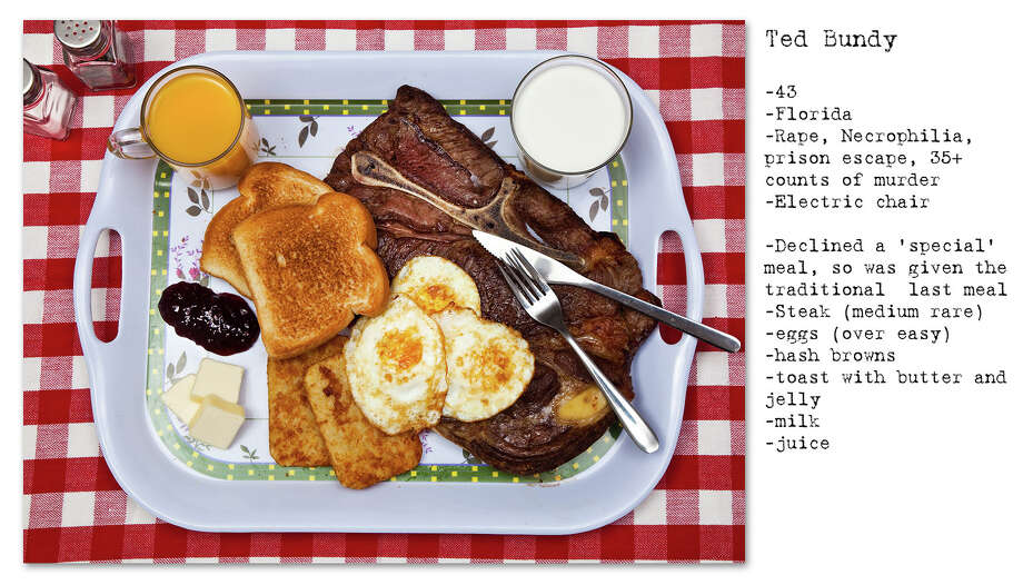 A New Zealand photographer recreated and photographed the last meals of several infamous death row inmates. Photo: Provided By Henry Hargreaves