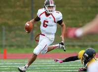 After starring at Greenwich High, QB Mike Lefflbine (6) is putting up big numbers for St. Lawrence.