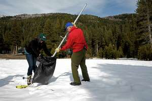 Snow levels in the Sierra drop to among the lowest on record - Photo