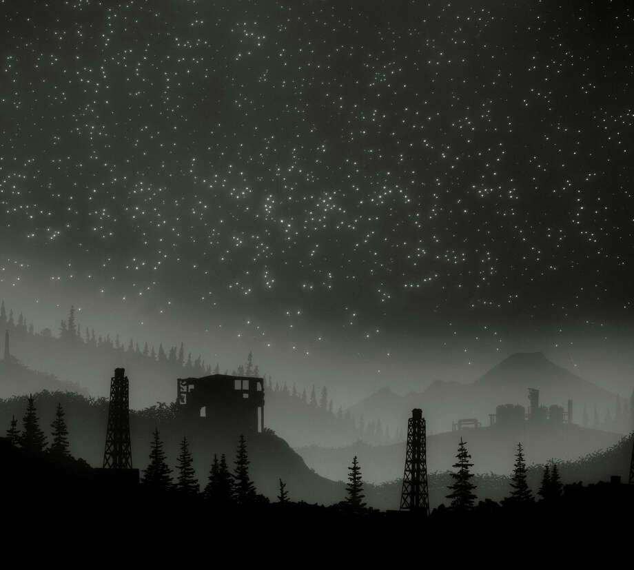 """Vanessa Marsh's """"Mt. Baker"""" (2014): Archival pigment print from photogram. Marsh uses multiple techniques to represent the vastness of nature and the night sky. Photo: Courtesy Of The Artist / ONLINE_YES"""
