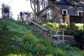 Stairs that start at Prague Street lead to Crocker Amazon Playground in S.F.'s Excelsior neighborhood.