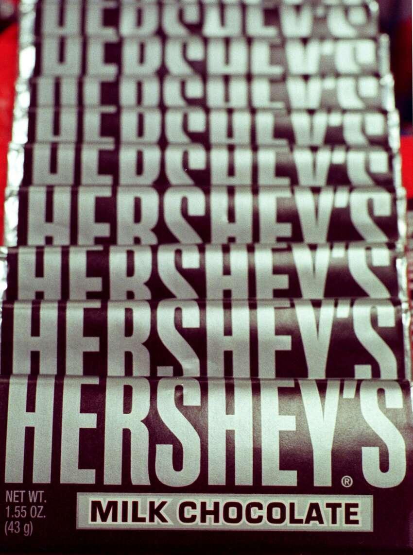 Hershey's Chocolate Bar 9 milligrams of caffeine per bar (1.55 ounces)