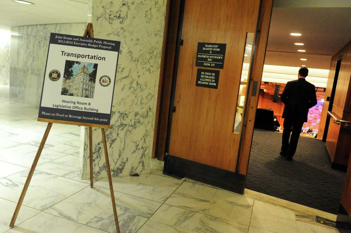 The New York State Legislature held a joint budget hearing on transportation Thursday Jan. 29, 2015 in Albany , N.Y. (Michael P. Farrell/Times Union)