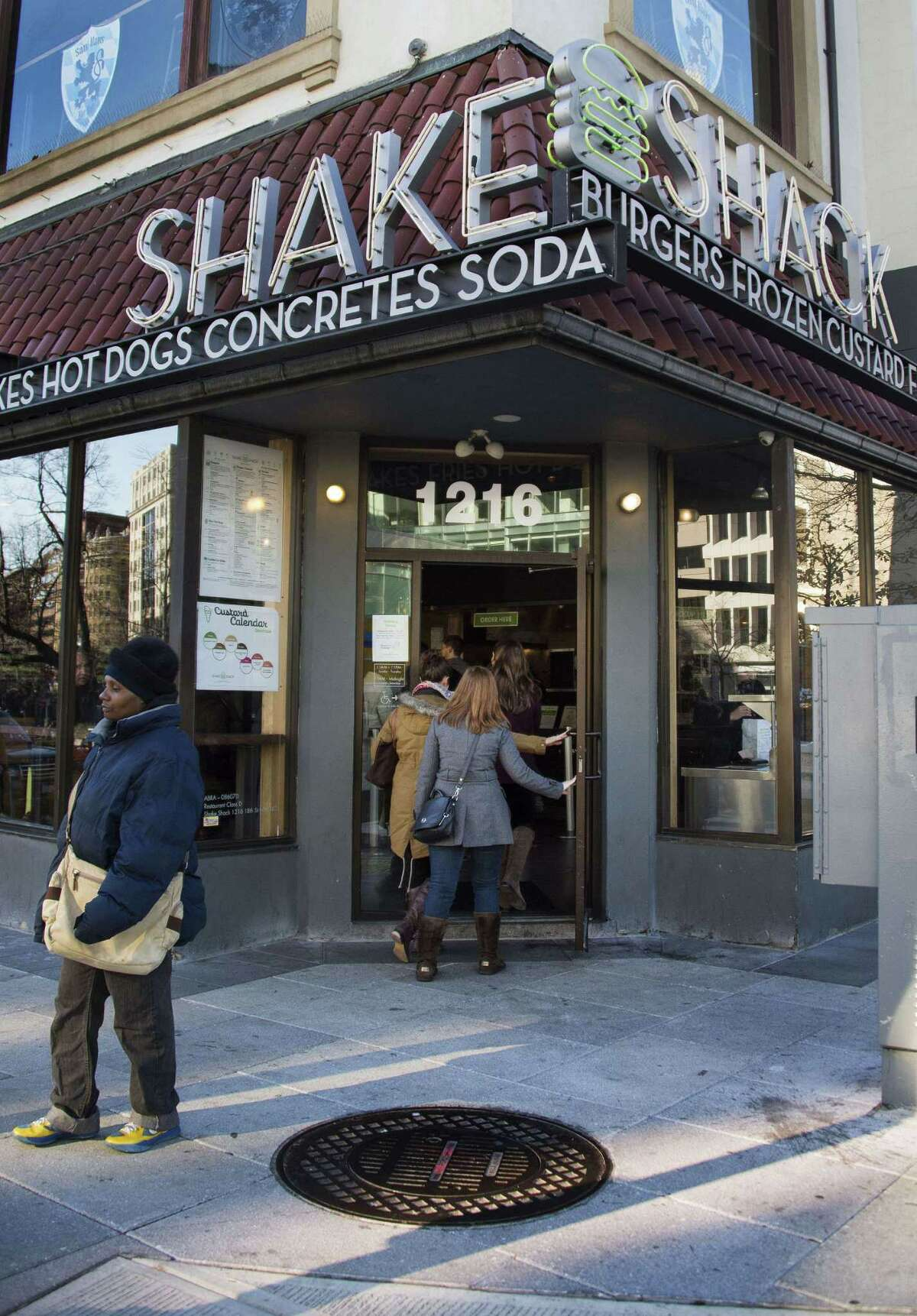This Shake Shack is in Washington, D.C. The chain said Thursday it raised $105 million in its initial public offering.