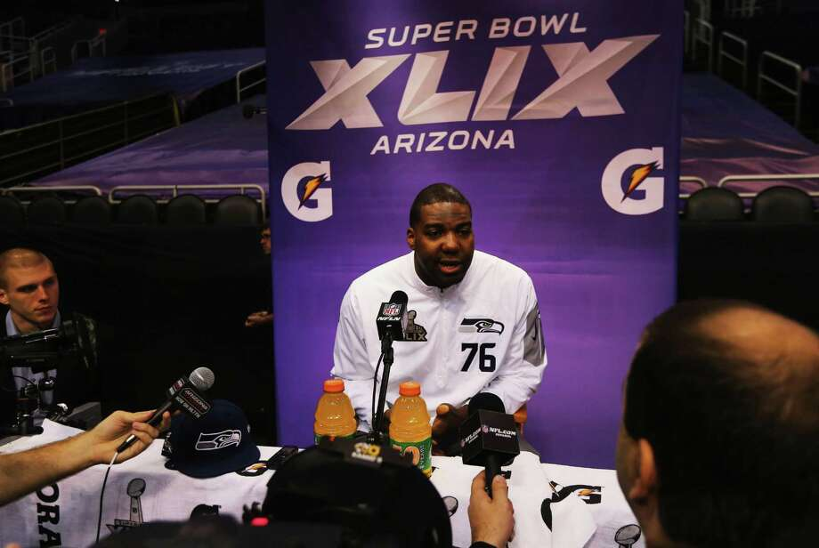 Seattle tackle Russell Okung says he owes a debt of gratitude to the coaches and mentors he had growing up in Fort Bend County for the success he has enjoyed. Photo: Elsa, Staff / 2015 Getty Images
