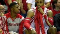 The return of Terrence Jones, left, to good health and the uncertain nature of Dwight Howard's status are two big factors as the Rockets eye the playoffs.