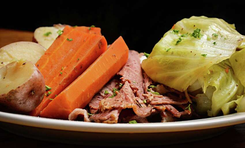 Corned beef & cabbage at the Public House 42 on Eagle St. Thursday Jan. 15, 2015, in Albany, NY. (John Carl D'Annibale / Times Union)