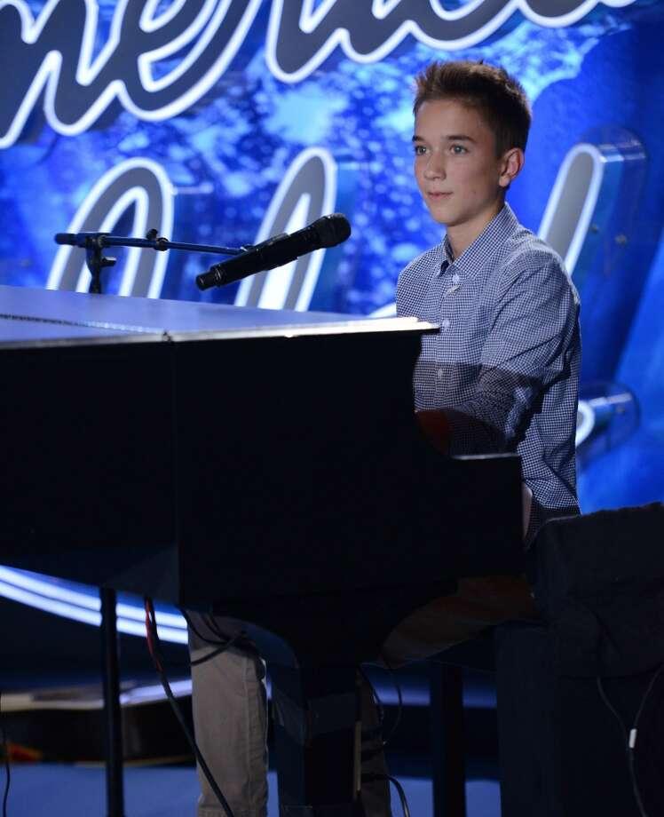 AMERICAN IDOL XIV: Daniel Seavey performs in front of the judges on AMERICAN IDOL XIV airing Thursday, Jan. 29 (8:00-9:00 PM ET/PT) on FOX. CR: Michael Becker / FOX. © 2014 FOX Broadcasting Co.