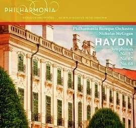 CD cover: Haydn Symphonies performed by Philharmonia Baroque Orchestra.