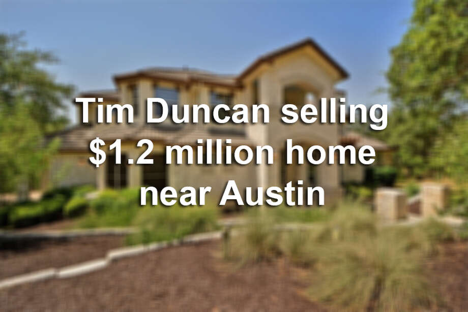 Tim Duncan has put his nearly $1.2 million home in Spicewood up for sale at the asking price of $945,000. The two-story, 3,955-square-foot Lake Travis home, listed by Stephanie Nick of Kuper Sotheby's International Realty, includes five bedrooms, four bathrooms, a double-height living room, a chef's kitchen with a center island, a game room and an office/study among other features. Photo: Courtesy Of Kuper Sotheby's International Realty