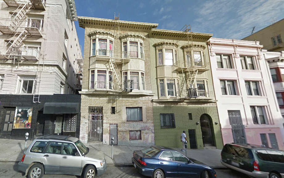 A fire 642 Hyde Street in San Francisco displaced 18 residents. Photo: Google Maps