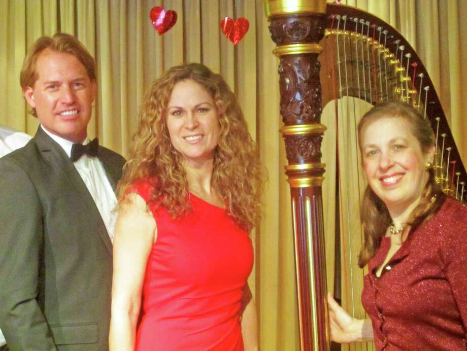 "Three of the artists scheduled to perform in a Feb. 8 ""Love Songs"" concert to benefit the ALS Society Connecticut Chapter are, from left, baritone Steve Magnuson, soprano Marjorie Donalds and harpist Wendy Kerner. Photo: Westport News/Contributed Photo / Westport News"