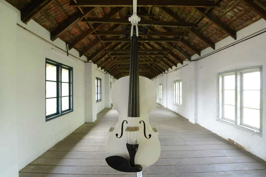 """Ibrahim Quraishi's """"Islamic Violins (ed. II)"""" installation will be shown at She Works Flexible April 14-19 during CounterCurrent15, the festival of experimental multi-disciplinary art presented by the University of Houston Cynthia Woods Mitchell Center for the Arts. Photo: Courtesy Of The Artist"""