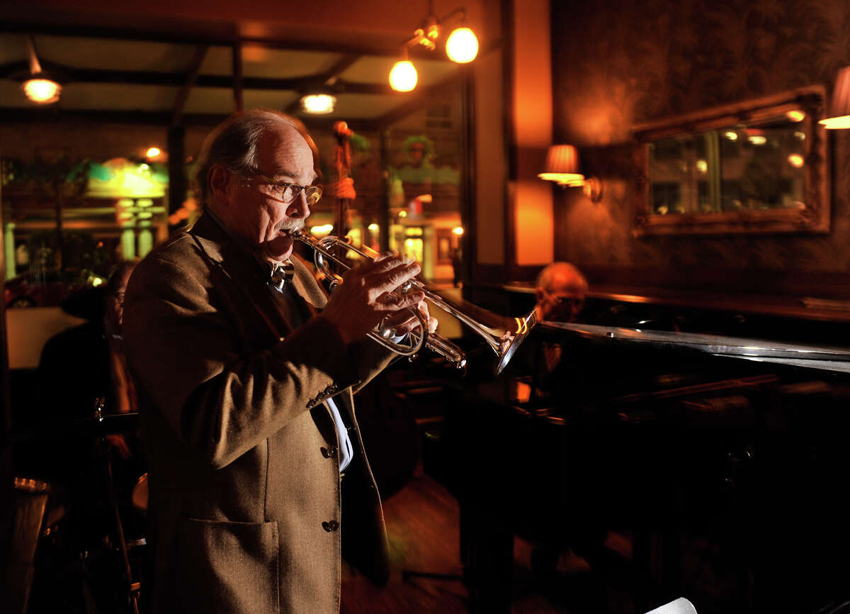 """San Antonio musician Jim Cullum and his band perform a weeknight gig at Bohanan's recently. Archive's from Cullem's long-running NPR show, """"Live from the Landing"""", are now being streamed 24/7 by Stanford University."""