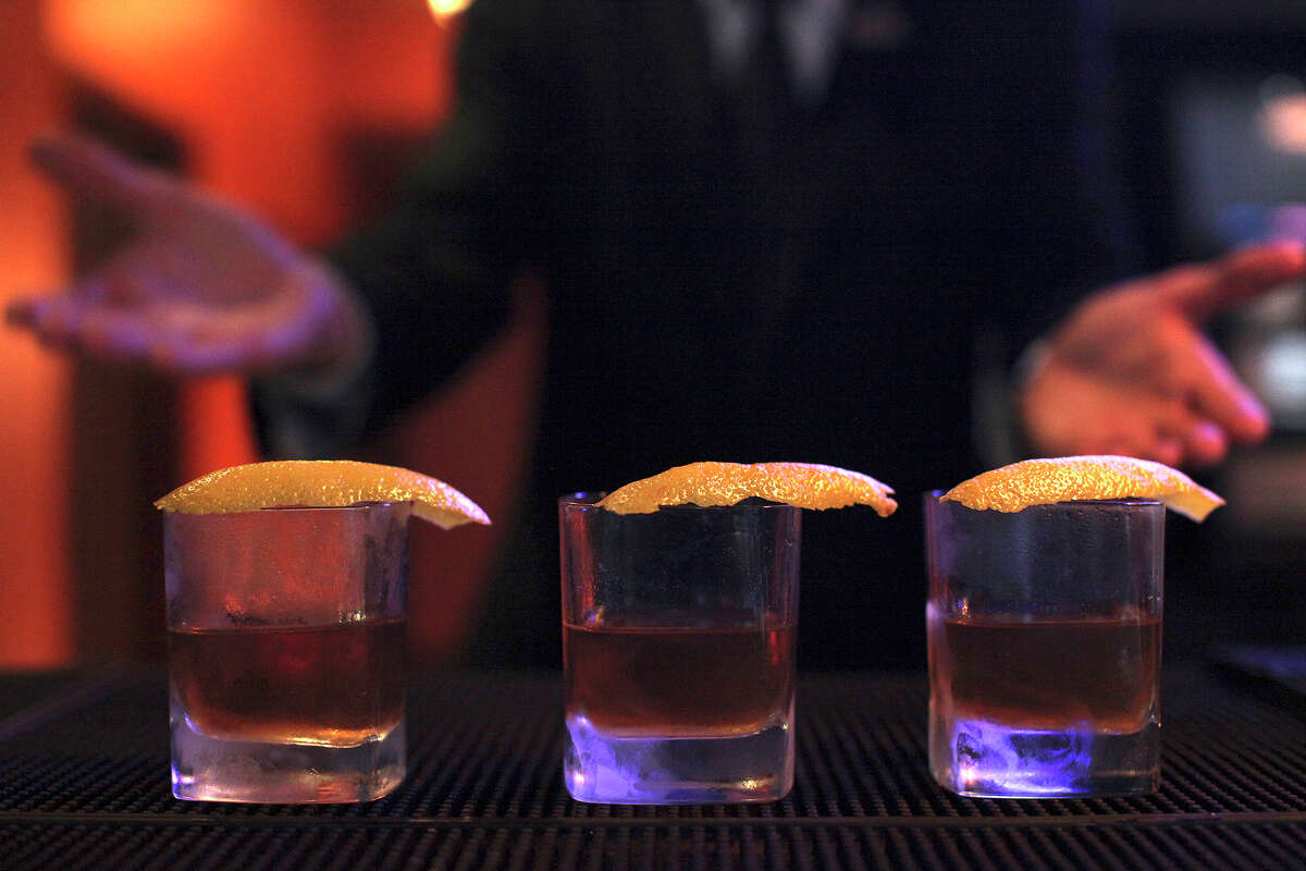 Sazeracs ready at The Bar at Bohanan's.