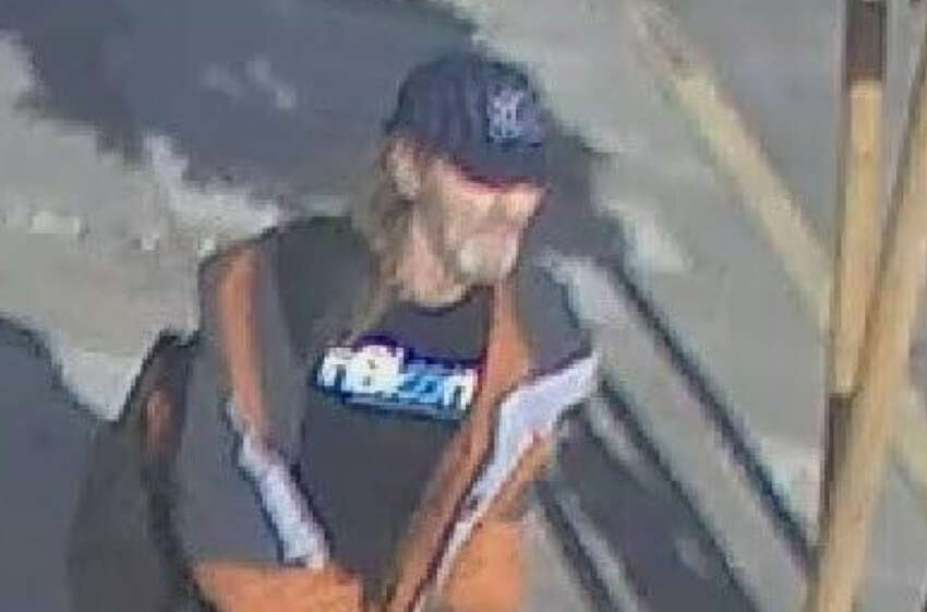 The San Francisco Police Department released this surveillance photo in connection with the discovery of human remains in the South of Market area. It later said the photo depicted suspect Mark Jeffrey Andrus, who was arrested.