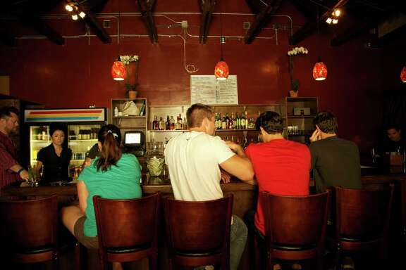 The bar at TBA Snack Bar.