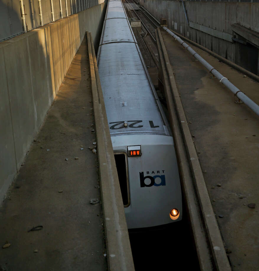 A BART train to San Francisco enters the transbay tunnel in Oakland. Where would a second transbay tube originate in the East Bay and arrive in S.F.? Photo: Scott Strazzante / The Chronicle / ONLINE_YES