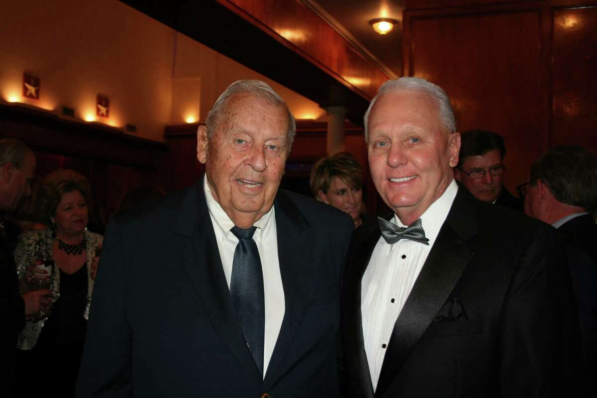 Sugar Land Mayors Bill Little, left, and Jimmy Thompson were the evening's honorary chairs. Thompson is the current mayor; Little served two terms, beginning in 1961,