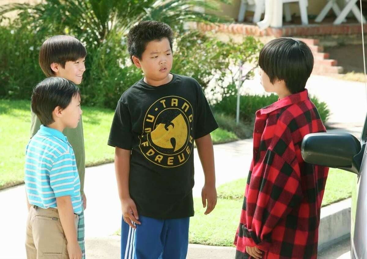 Ian Chen (left), Forrest Wheeler, Hudson Yang, Lance Dae Lim appear in a xxx set in the '' '''' ''90s.
