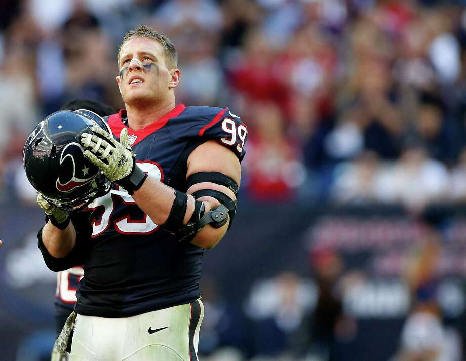 The Texans' J.J. Watt is expected to be named the NFL's defensive player of the year today, but does he have a chance to win the MVP honor as well? Story on Page C2. Photo: Karen Warren, Staff / © 2014 Houston Chronicle