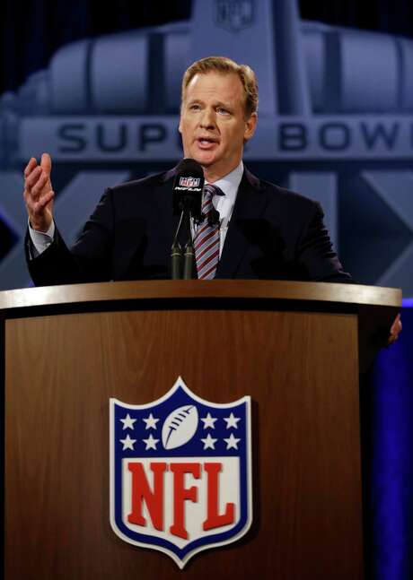 """During his annual state of the NFL address Friday in Phoenix, commissioner Roger Goodell called this season """"a year of humility and learning"""" for him. Photo: David J. Phillip, STF / AP"""