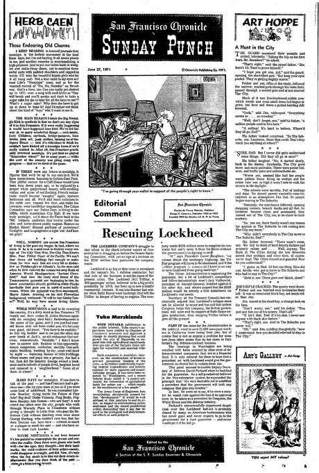 June 21, 1973: Herb Caen's essay about nostalgia reads like a letter to the future. Photo: Chronicle File, The Chronicle
