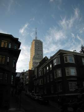 The Clay-Jones Apartments on Nob Hill is 358 feet tall -- but only if you include the spike-like antenna on its roof, a feature since the art deco building opened in 1930.