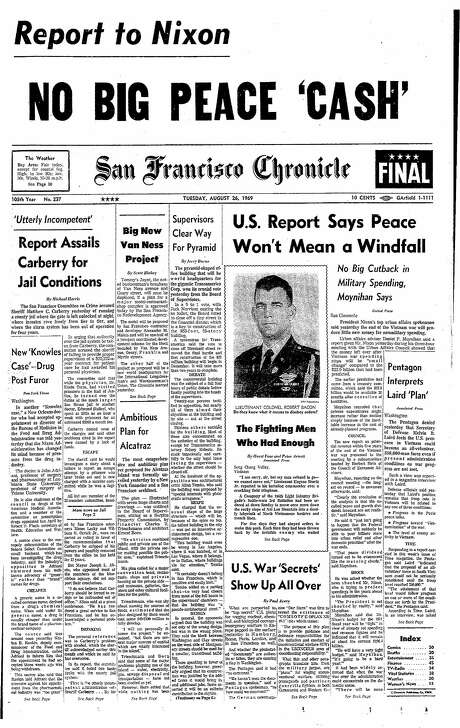 An August 26, 1969 Chronicle report cleared way for the Transamerica Pyramid to be built. Photo: Chronicle File, The Chronicle
