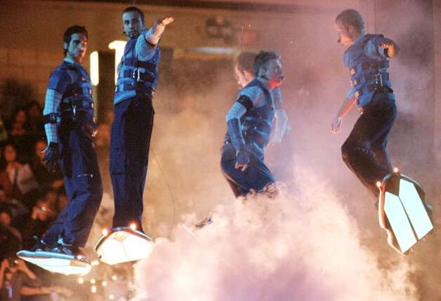 BackStreet Boys surf their way into the Pepsi Arena kicking off the start of a two day performance Monday, Feb. 14, 2000. (Will Waldron/Times Union) Photo: WILL WALDRON / ALBANY TIMES UNION