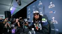 Seattle Seahawks running back Marshawn Lynch was tight-lipped during the rounds of media interviews in the week before Super Bowl XLIX; he prefers to be out of the spotlight and let his play speak for him.