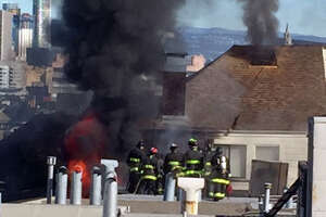 4-alarm fire damages 4 buildings near Alamo Square - Photo