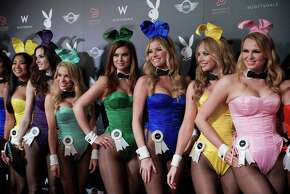 Over two dozen Playboy Playmates appear on the red carpet at The Super Bowl Playboy Party January 30, 2015, at the W Scottsdale in Scottsdale, Arizona. Nelly hosted the A-list event, complete with open bars for attendees. Celebrities such as Kanye West, Usher, and Lil John have all made past appearances at the Super Bowl Playboy Party to perform live.