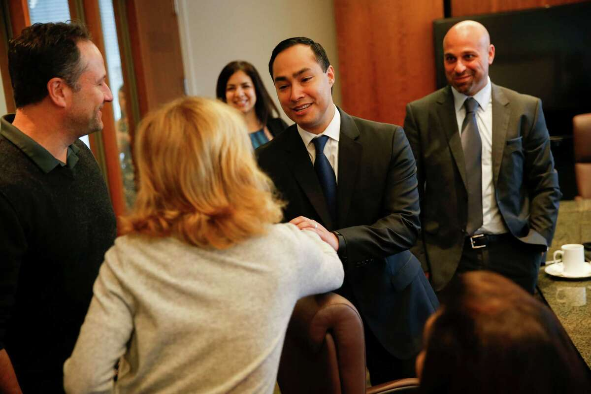 U.S. Rep. Joaquin Castro, D- San Antonio, attends a meet-and-greet event while in Century City, Calif.