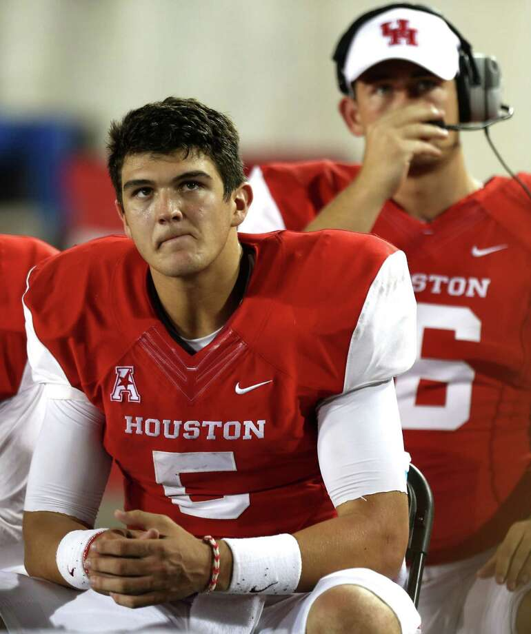 Quarterback John O'Korn decided to part ways with the University of Houston after being the starter at the beginning of the 2014 season. Photo: Brett Coomer, Staff / © 2014  Houston Chronicle