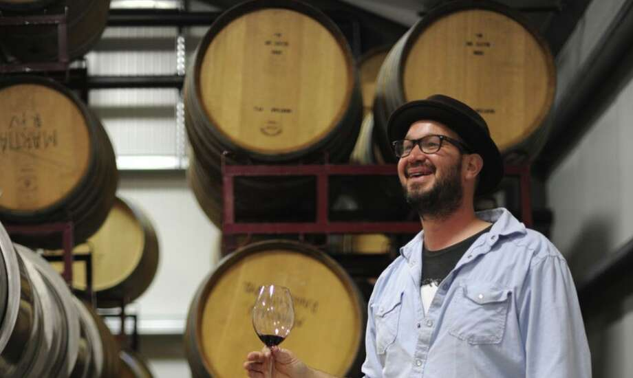Mike Roth at Martian Ranch & Vineyard in Los Alamos (Santa Barbara County). Photo: Erik Castro / Special To The Chronicle