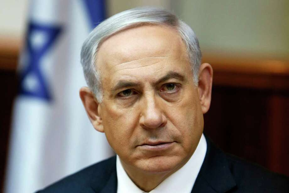 Israel's Prime Minister Benjamin Netanyahu chairs the weekly cabinet meeting in Jerusalem, Sunday, Feb. 1, 2015. (AP Photo/Gali Tibbon, Pool) Photo: Gali Tibbon, POOL / AFP Pool