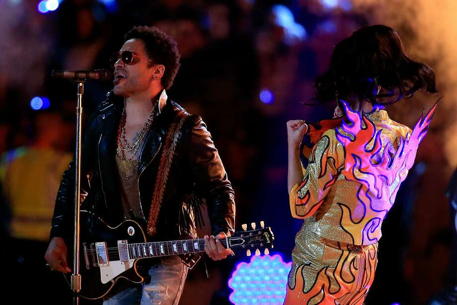 Lenny Kravitz (left), who performed with Katy Perry in the Super Bowl Halftime Show, will be at BottleRock. Photo: Rob Carr, Getty Images