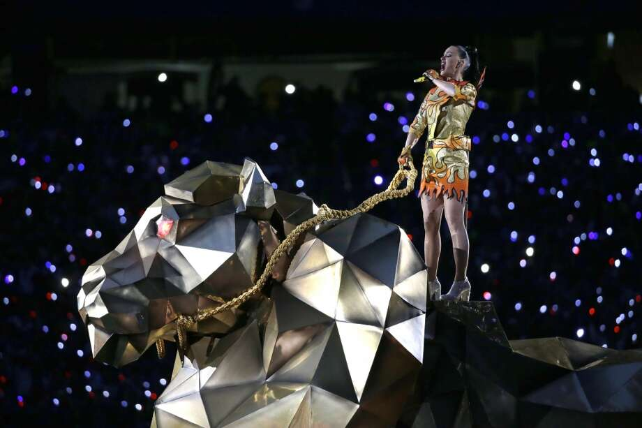 Katy Perry performs during halftime of NFL Super Bowl XLIX football game Sunday, Feb. 1, 2015, in Glendale, Ariz. (AP Photo/Mark Humphrey) Photo: Mark Humphrey, Associated Press