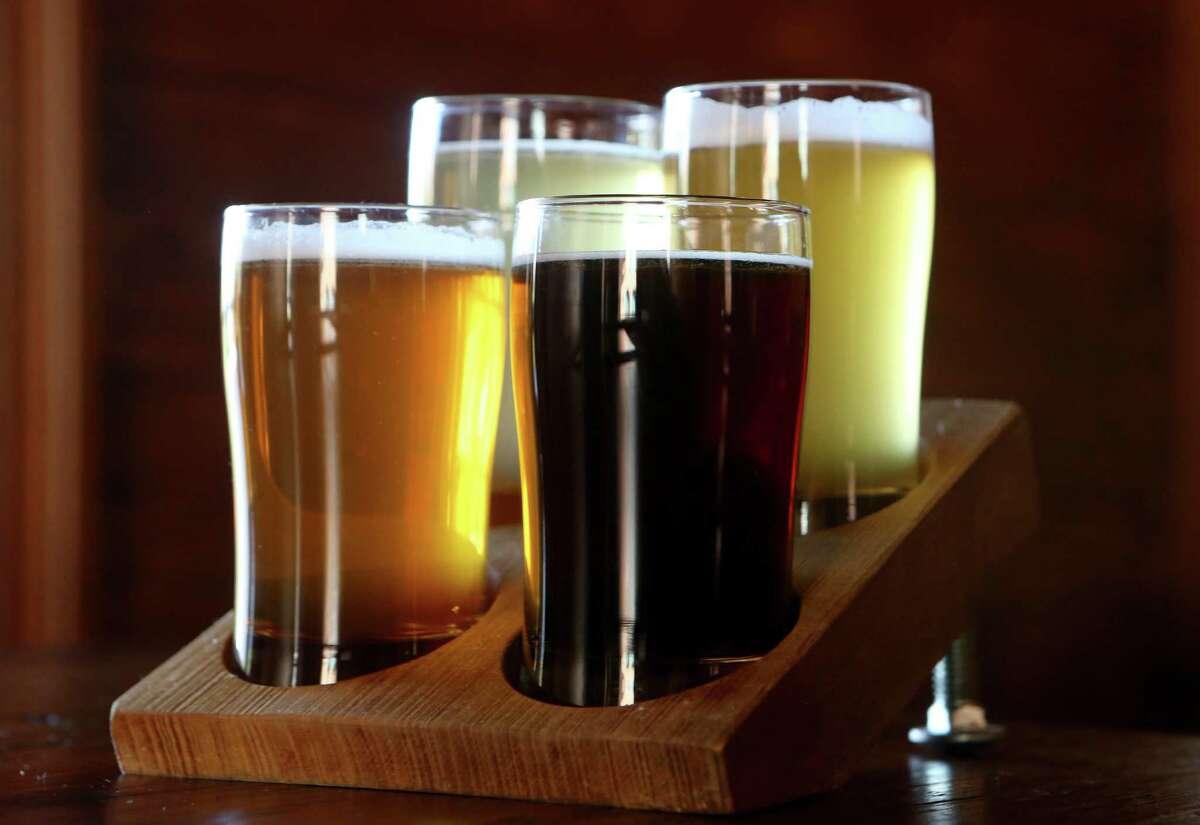 Beer flight from The Granary 'Cue & Brew.