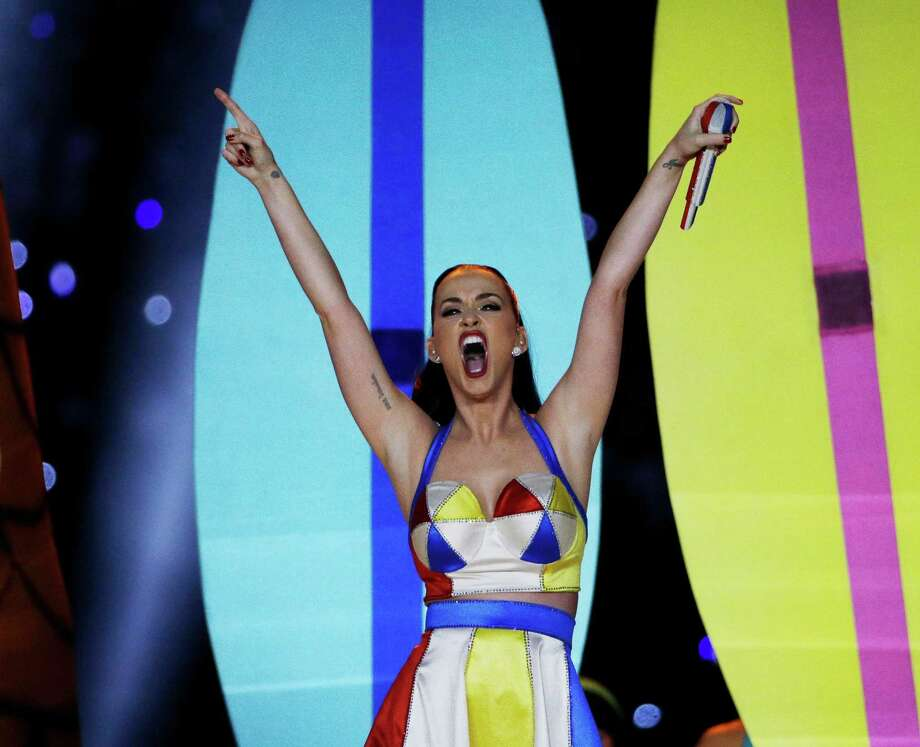 Singer Katy Perry performs during halftime of NFL Super Bowl XLIX football game between the Seattle Seahawks and the New England Patriots Sunday, Feb. 1, 2015, in Glendale, Ariz. Photo: David J. Phillip, AP Photo / AP